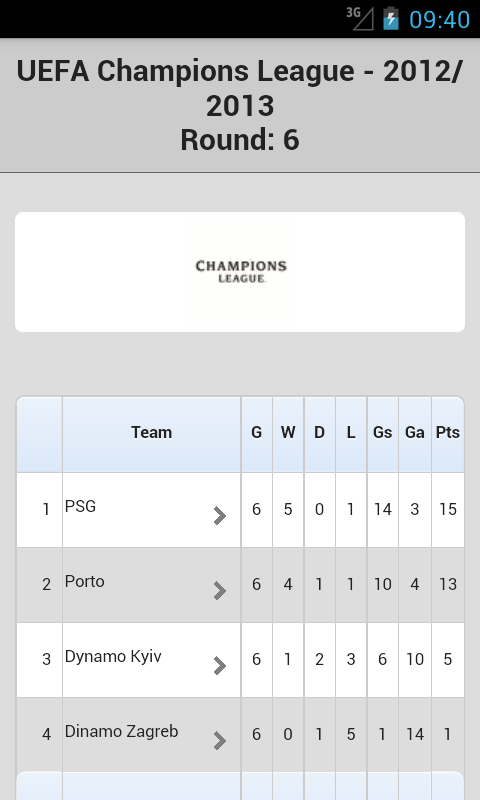 Champions League - screenshot