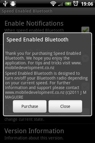 Speed Enabled Bluetooth - screenshot