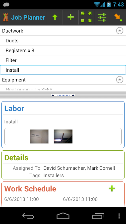 4W Job Management: Contractor - screenshot