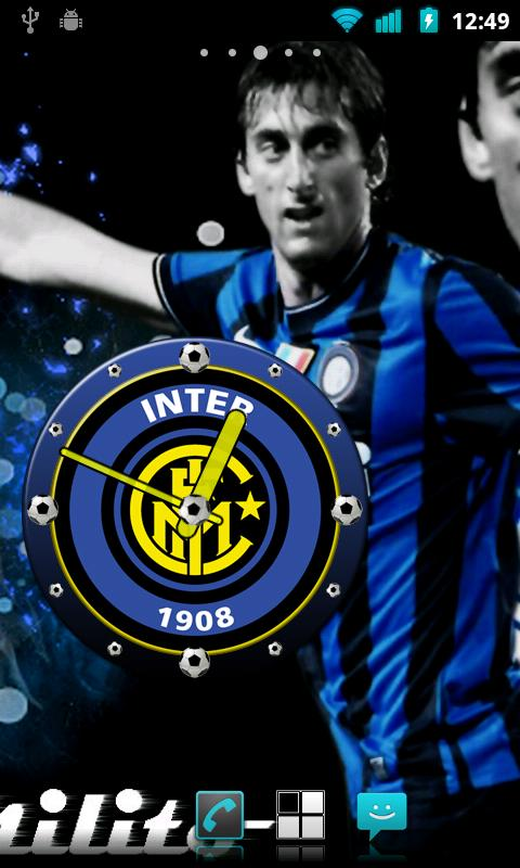 Inter Milan Clock Widget - screenshot
