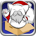 Flying Santa Cat logo