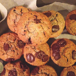 Crushed Raspberry Chocolate Oat Muffins