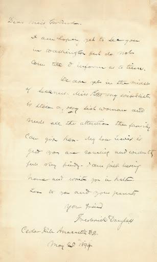 letter from frederick douglass