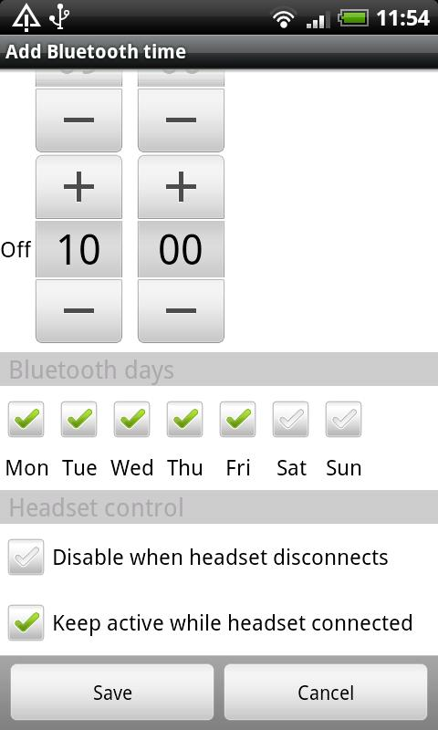 Bluetooth Auto On - screenshot
