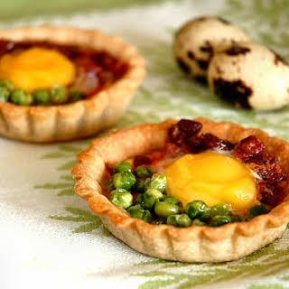 Mini-egg Buckwheat Tarts.