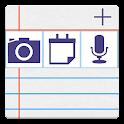 notePad Notizblock,Fotos,Sinc icon