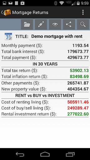 Mortgage Returns Calculator