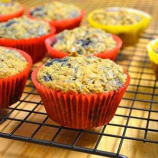 Berry Oatmeal Muffins With Flaxseed