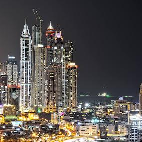 Jumeirah Lake Towers by Abid Malik - Buildings & Architecture Other Exteriors ( highest cluster, dubai, jumeirah lake towers, high rise, jumeirah, buildings, dubai marina, marina, jlt, sky scrapper, dxb )