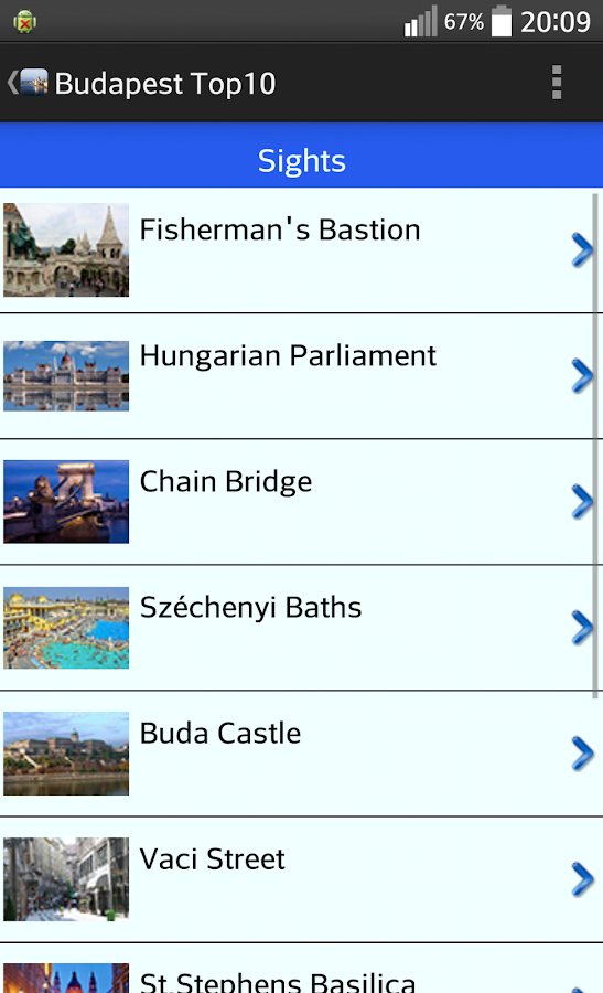 Budapest Top10 Guide- screenshot