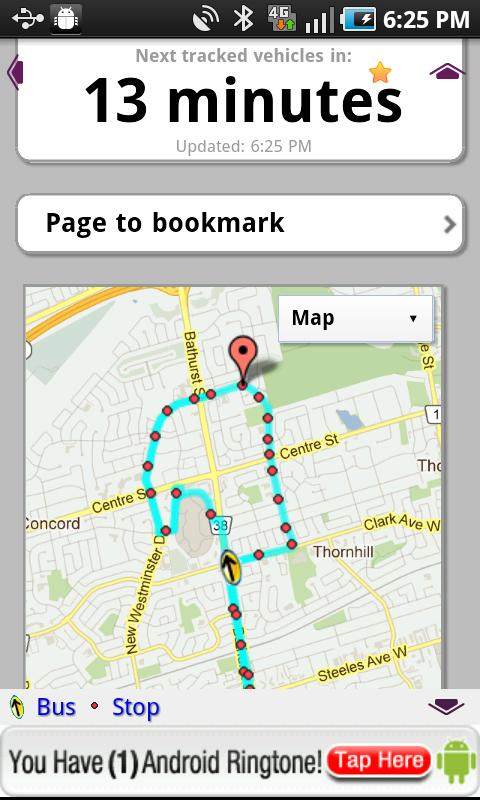 iNextBus Realtime Bus Tracker - screenshot