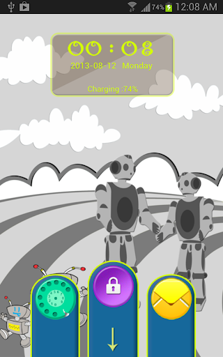 Robots Planet Go Locker Theme