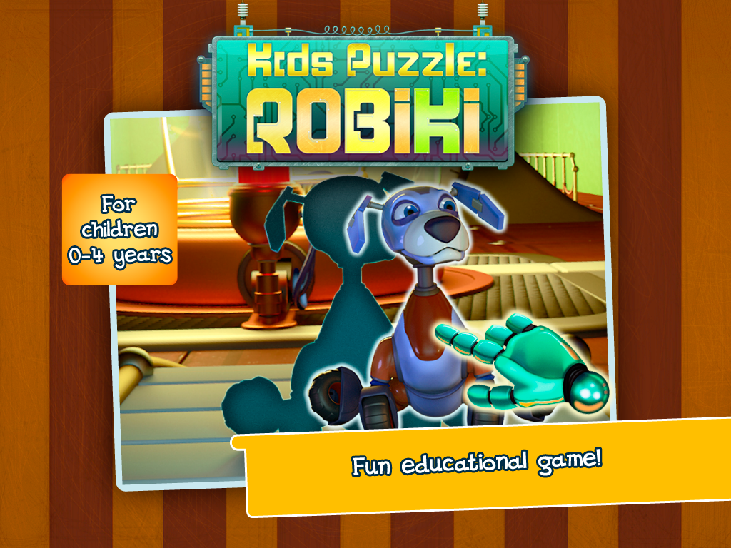 Kids puzzle: Robiki - screenshot
