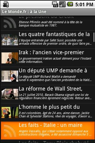 WM Lecteur RSS - screenshot