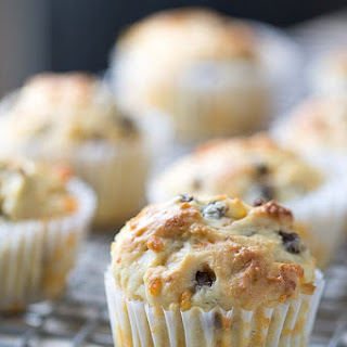 Sausage Cheddar and Olive Oil Muffins