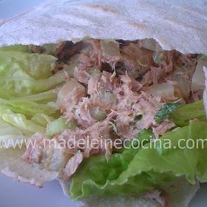 Tuna and Potato Salad with Pita Bread