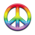 Peace Symbol Clock Widget icon