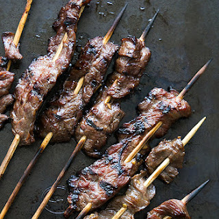 Grilled Skirt Steak Skewers.