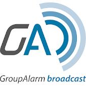 GroupAlarm broadcast