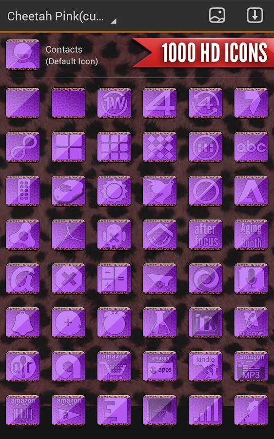 Complete Cheetah Purple Theme- screenshot
