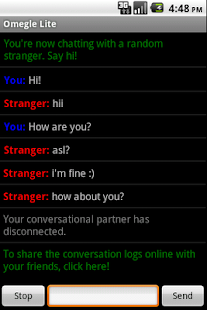 Omegle Android - screenshot thumbnail