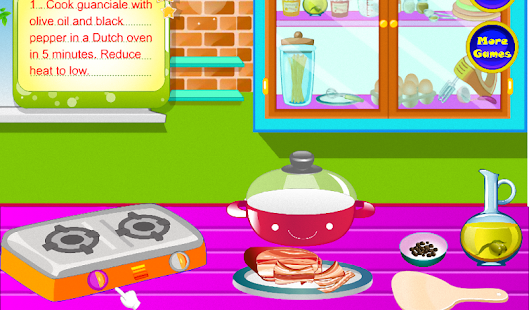 烹飪意大利麵條卡爾博