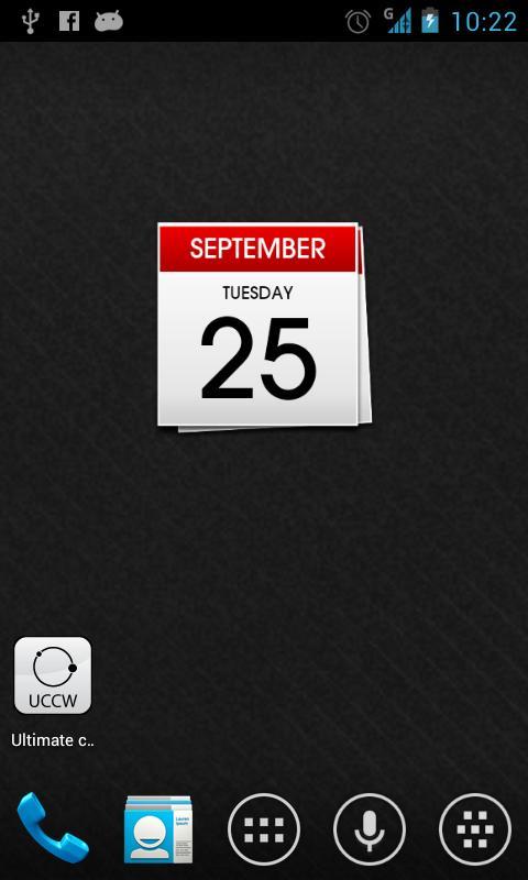 Calendar uccw skin- screenshot