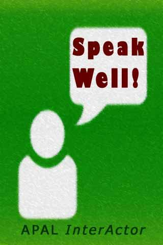 Speak Well - screenshot