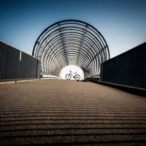 the bicycle by Eugen Chirita - Sports & Fitness Cycling ( focus, lines, perspective, bridge, bicycle, tunnel )