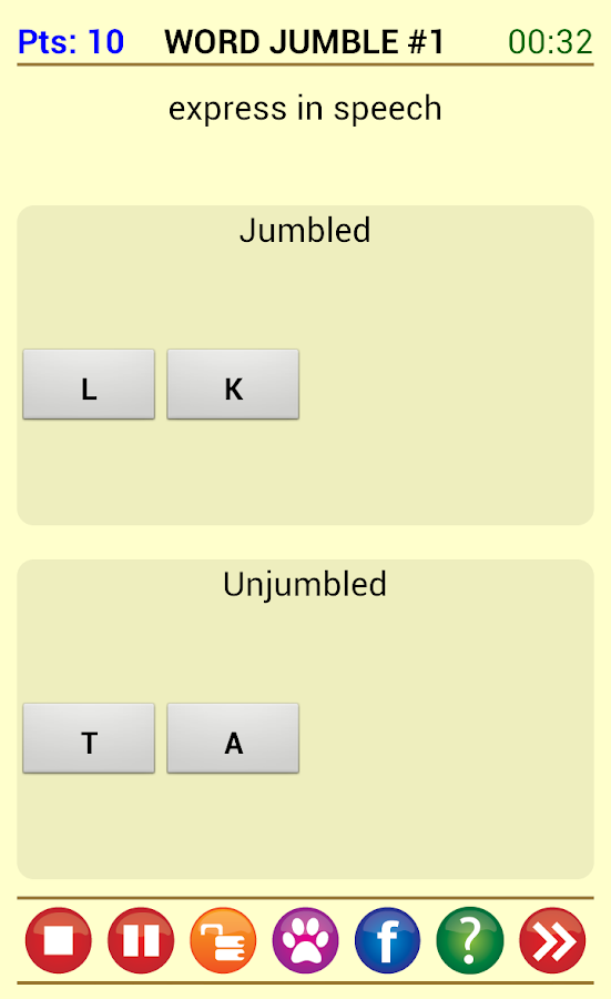 Word Jam - screenshot