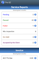 Screenshot of Pro QC Mobile Client