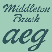 Middleton Brush Flipfont