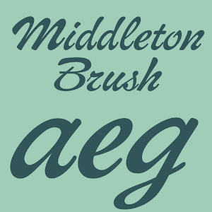 Middleton Brush Flipfont icon