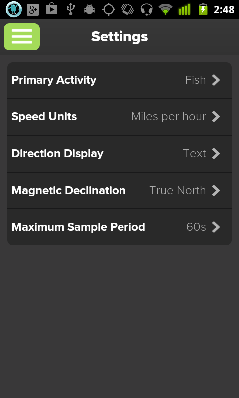 WeatherFlow Wind Meter - screenshot