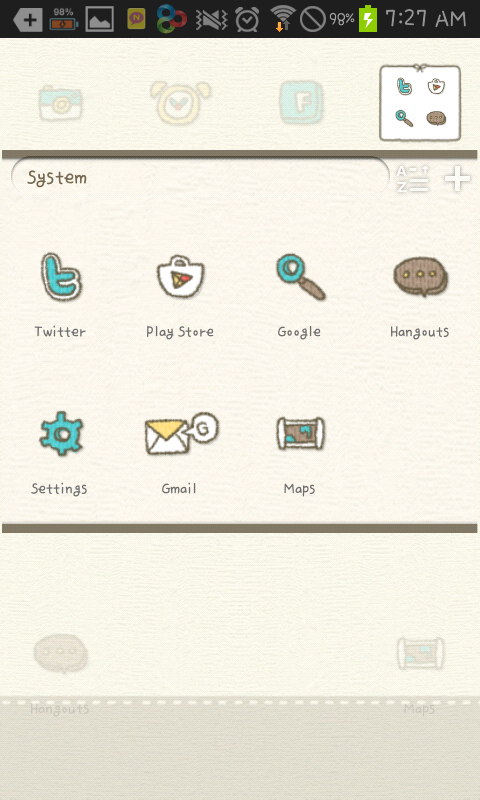 knit man go launcher theme - screenshot