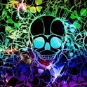 Colorful Skull Live Wallpaper icon