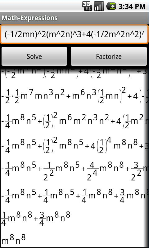 Expressions and Equations- screenshot