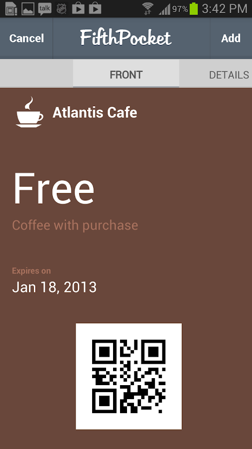 Passbook for Android - screenshot