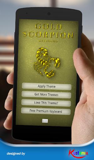 Gold Scorpion Keyboard