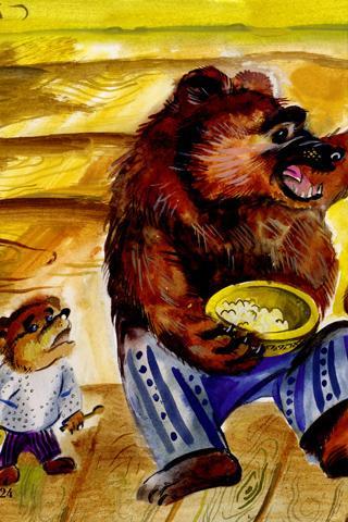 сказка маша и три медведя слушать