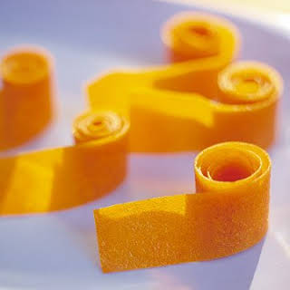 Apricot Fruit Leather Rolls.