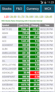 NSE MCX NCDEX Live MarketWatch - screenshot thumbnail