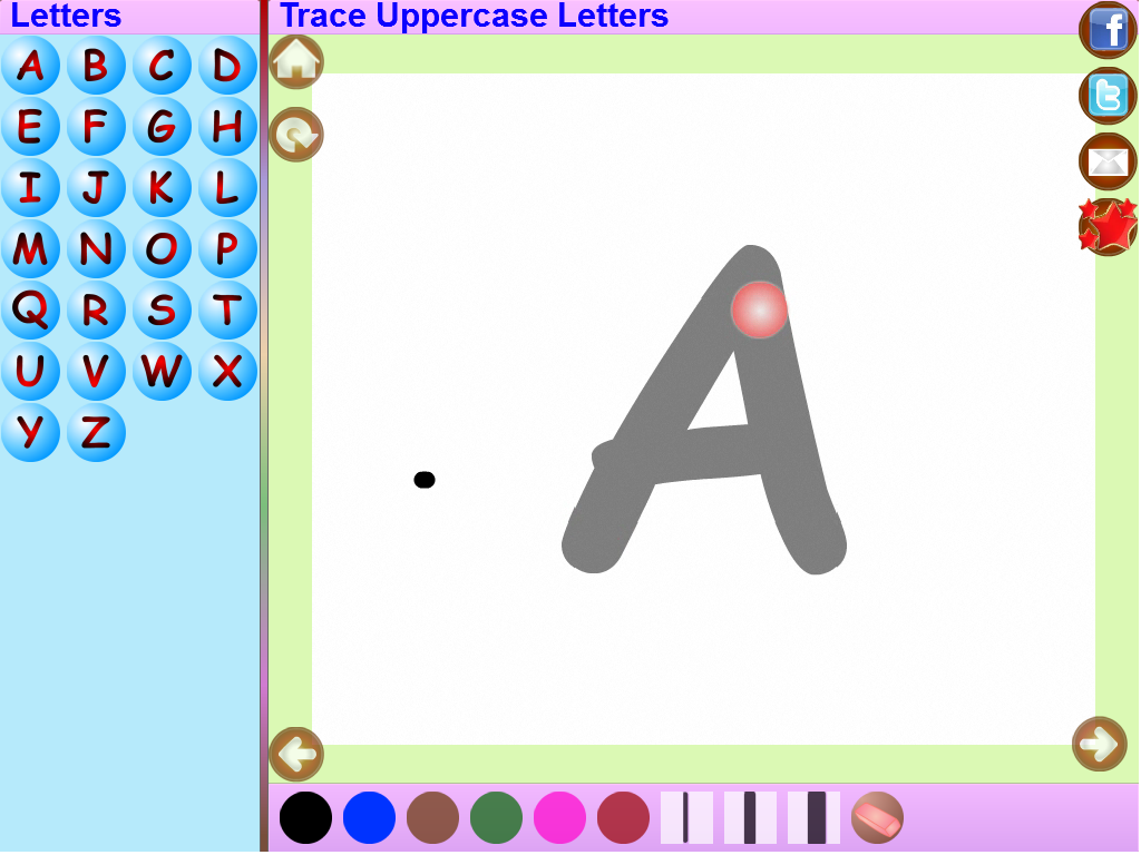Trace Kannada Alphabets Kids- screenshot