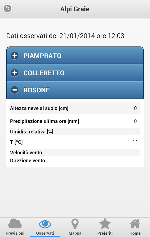 Meteo VETTA- screenshot