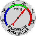 Barometer In Status Bar icon