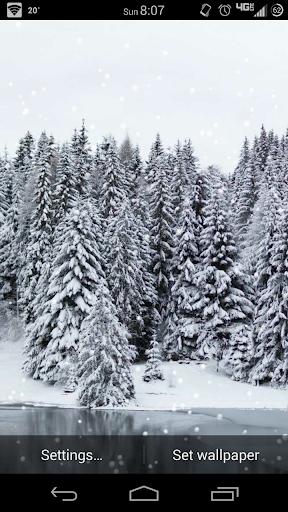 Snowy Day Lite Live Wallpaper