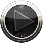 Poweramp skin black lizard icon