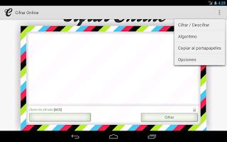 Screenshot of Cifrar Online