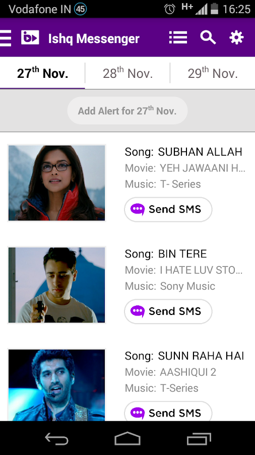 bPLAY-Bollywood Songs Request- screenshot
