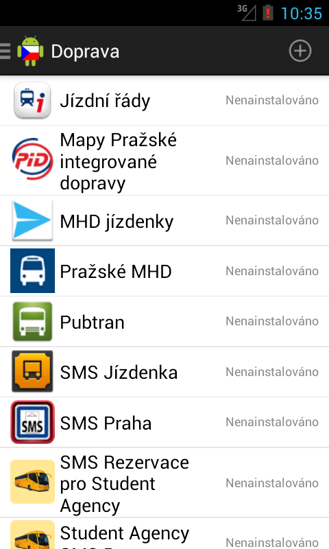 Czech Android - screenshot